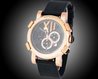 Titanic-DNA rusted steel T-oxy III Chronograph pink